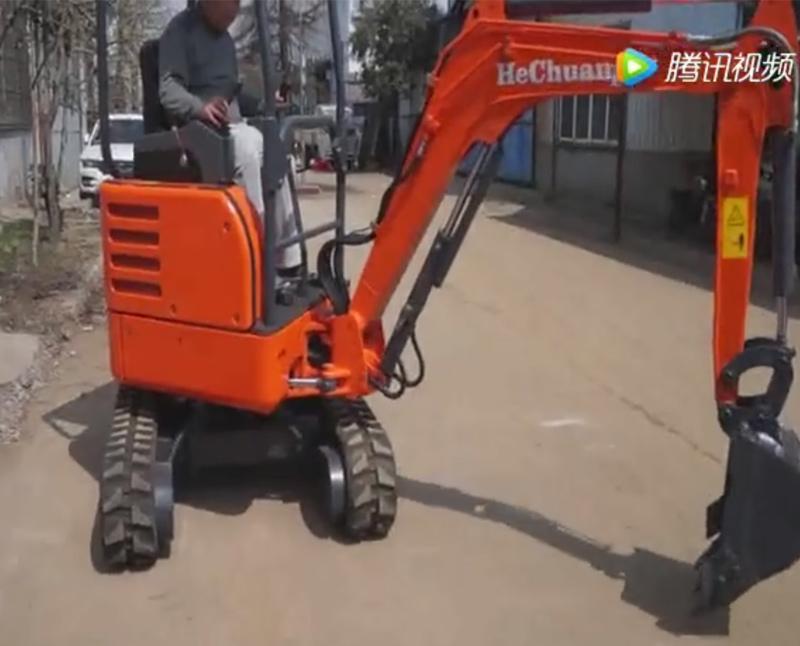 农用小挖机演示