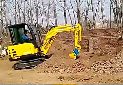 小型挖掘机各种施工现场青